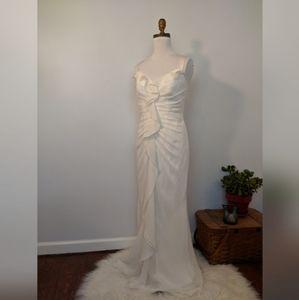 White by Vera Wang Low Back Ruffled Wedding dress